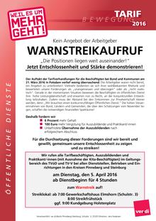 Tarifinfo ÖD 2016 vom 31.03.2016